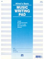 12 Stave Music Writing Pad (8 1/2 x 11)